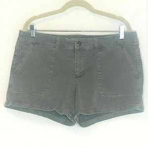 Mossimo Mid Rise Shorts Olive Green Cotton Spandex